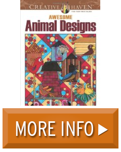 Creative Haven Awesome Animal Designs Coloring Book Books